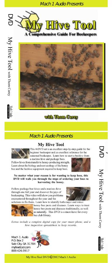 Beginner Beekeeping DVD cover Font and Back
